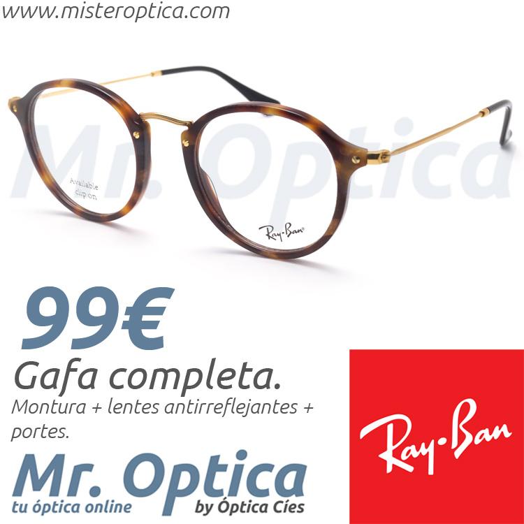 3a6eec1ab7 Gafas graduadas Ray Ban RB2447V Round Fleck 5494 49/21 145