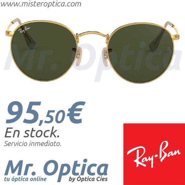 Ray Ban RB3447 Round Metal 001 en Mister Optica Online
