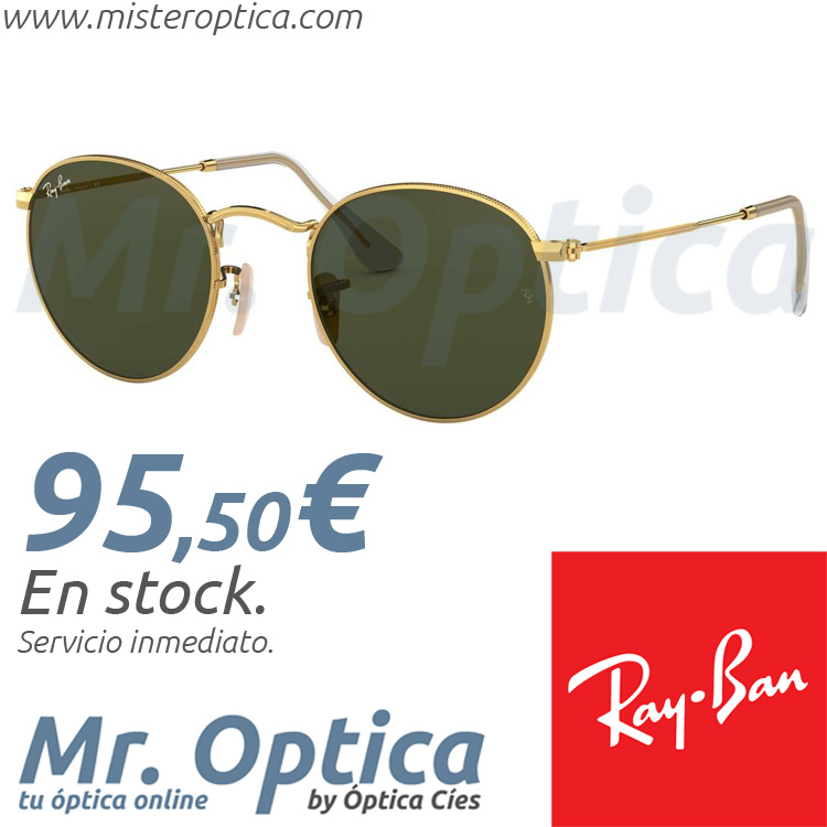 fd2478f84c Ray Ban RB3447 Round Metal 001 50/21 145 - Míster Óptica Online